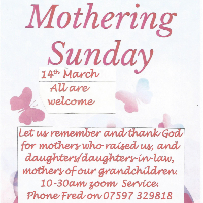 14 March Mothering Sunday