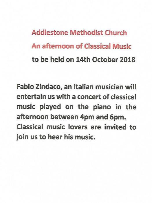 14 October Afternoon Music Concert