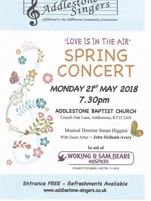 Addlestone Singers May18