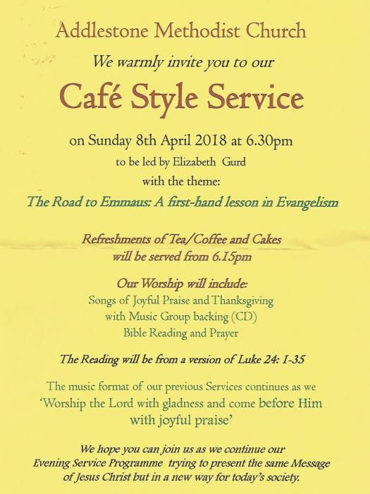 Cafe Style Service - April 18