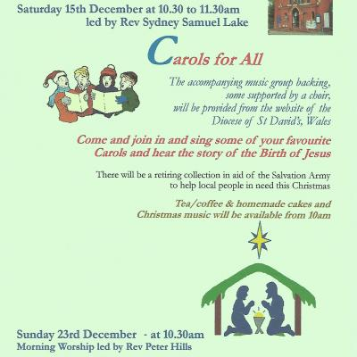 Carol and Christmas Services 2018