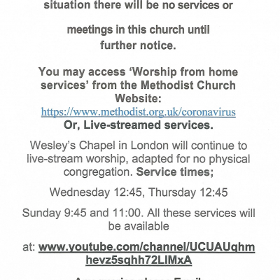 Church and meeting notice March 2020
