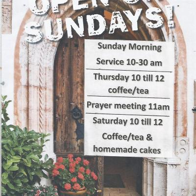 Open on Sundays and --
