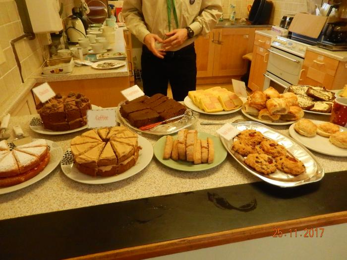 Scouts offer tea/coffee and cakes